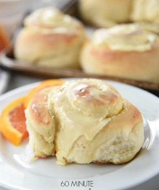 60 minute orange rolls are not only fast but delicious too!