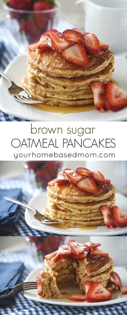 Brown Sugar Oatmeal Pancakes for breakfast or dinner!