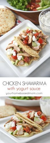 Chicken Shawarma is a delicious and easy dinner that comes together in 30 minutes
