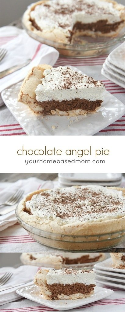 Chocolate Angel Pie is a bite of heaven on your fork!