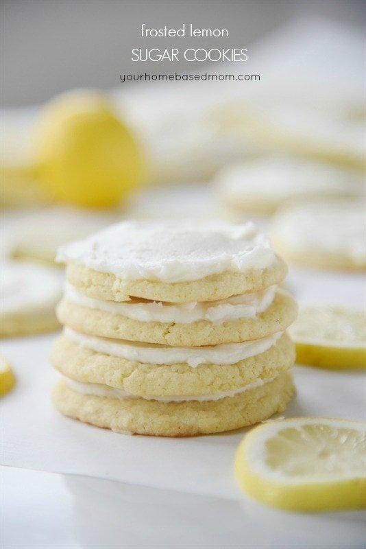 Frosted Lemon Sugar Cookies