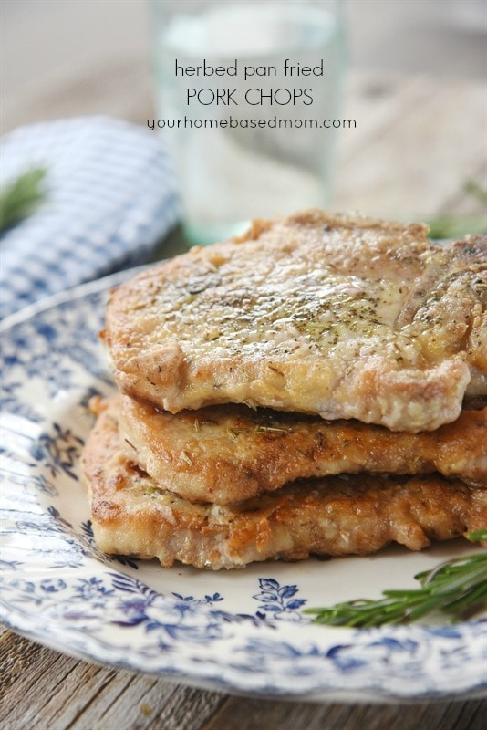 Herbed Pan Fried Pork Chops are a quick and easy dinner idea