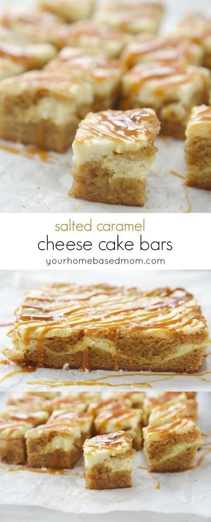 Salted Caramel Cheesecake Bars - 1