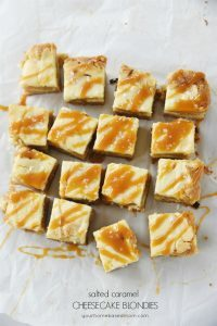 Salted Caramel Cheesecake Blondies
