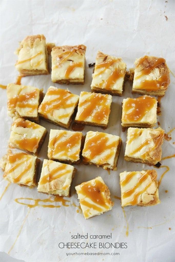 Salted Caramel Cheesecake Blondies