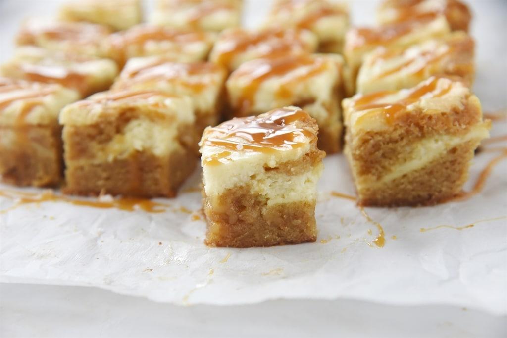 Salted Caramel Cheese Cake Blondies