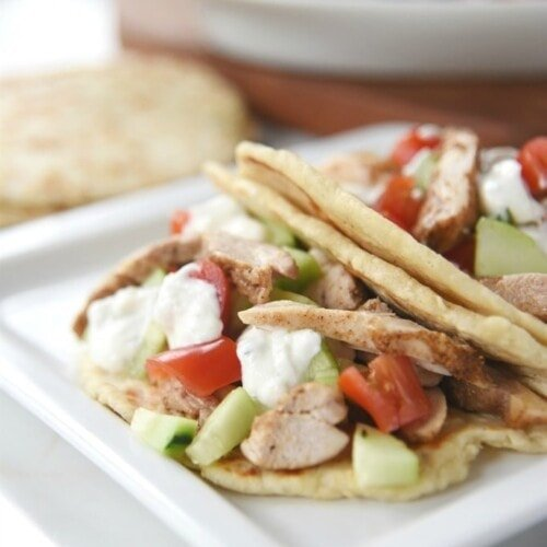 Chicken Shawarma with yogurt sauce