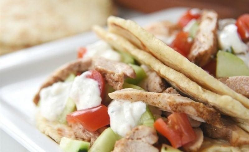 Shawarma Chicken with Yogurt Sauce