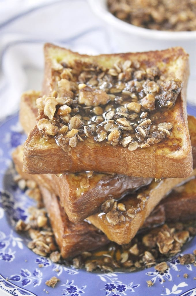 Brioche French Toast With Walnut Crumble For Breakfast Or