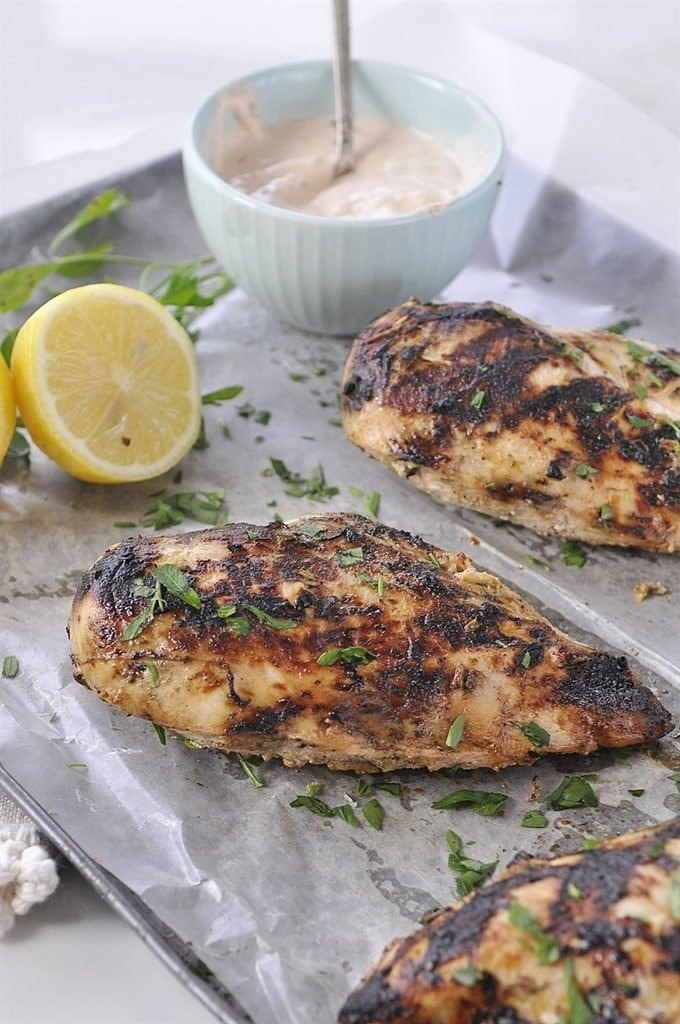 Grilled Chicken with Yogurt Sauce is the perfect for the ...