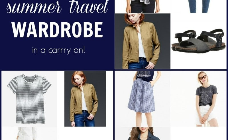 Summer Travel Wardrobe that fits in a Carry On