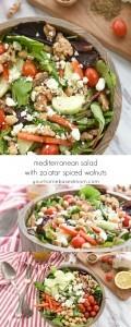 Mediterranean Salad with Spiced Walnuts
