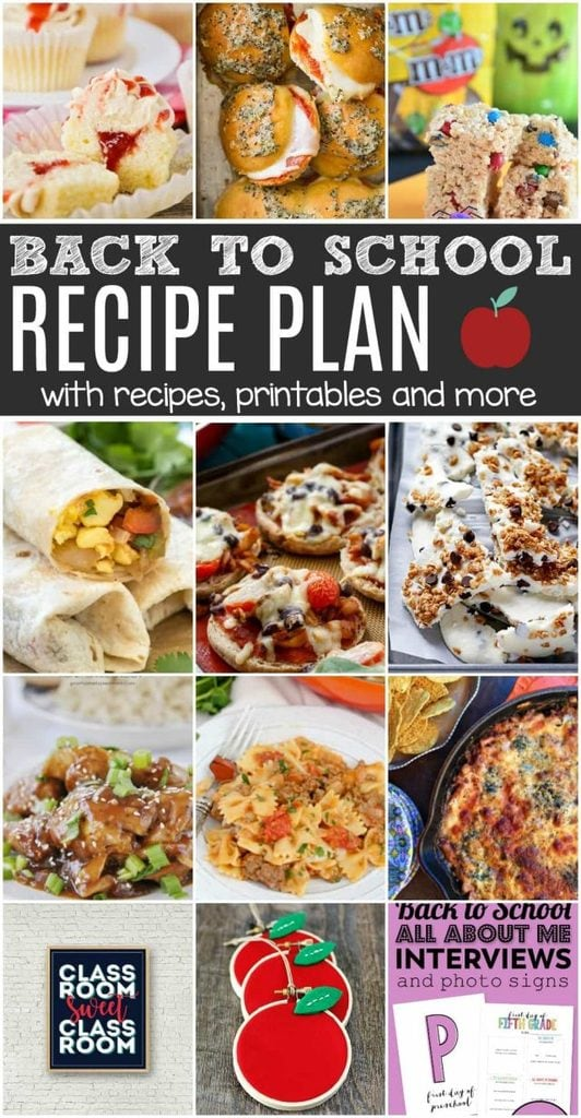 We've got a recipe plan and a fun printable to get your kids in the mood! This Back To School Recipe Plan will check off all the boxes on your to-do list.