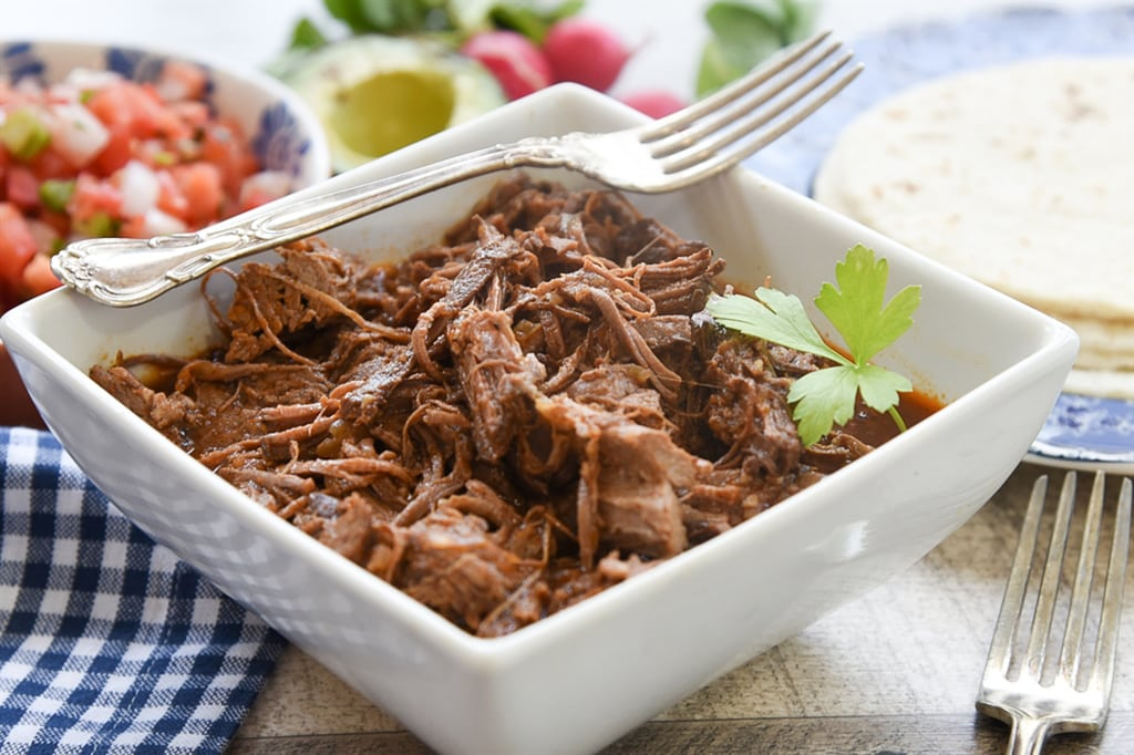 Beef Brisket Tacos in the slow cooker