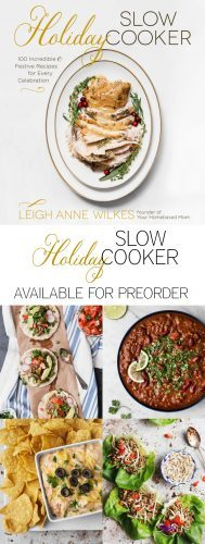 The Holiday Slow Cooker Cookbook is available for preorder! It makes the perfect holiday gift. Order before Oct. 17 and receive a free slow cooker ebook! https://www.yourhomebasedmom.com/holiday-slow-cooker-cookbook