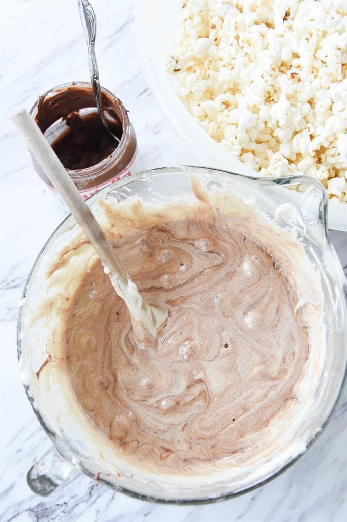 Nutella Marshmallow Popcorn