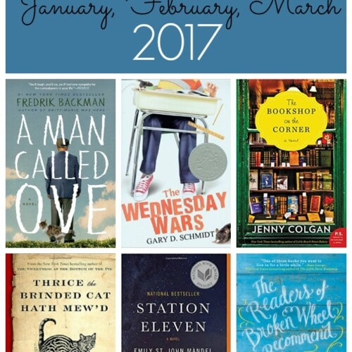 January, February, March 2017 Book List