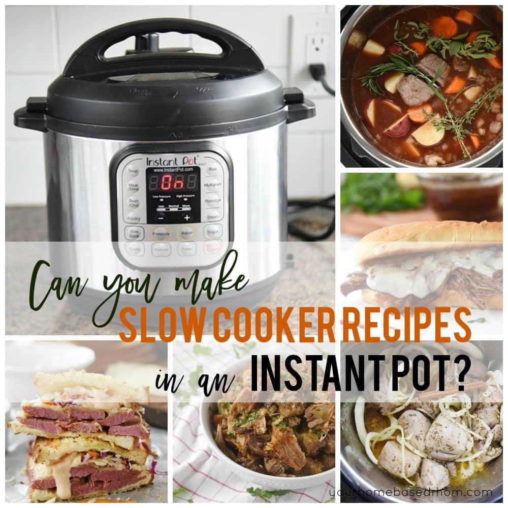 Convert slow cooker to instant pot
