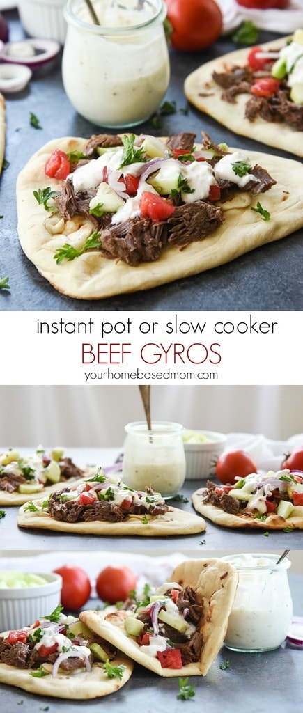 Beef Gyros in the Instant Pot or Slow Cooker