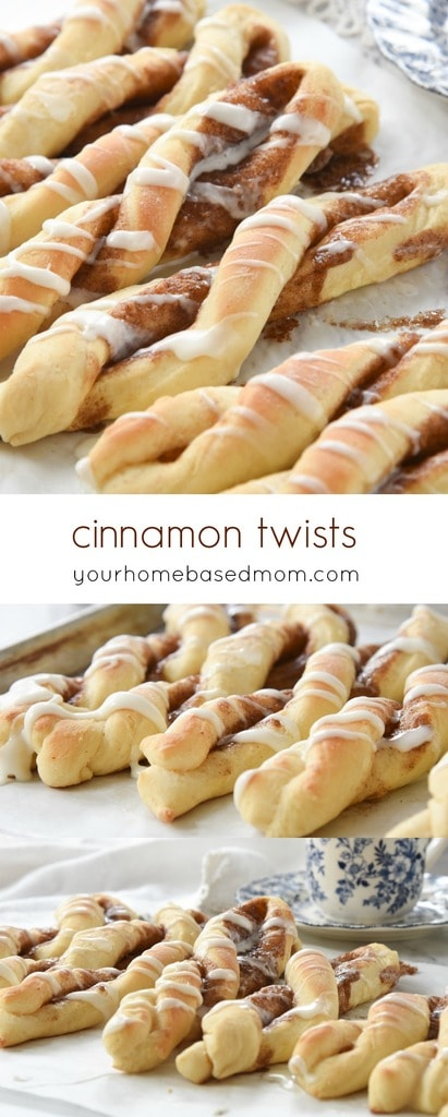 Cinnamon Twists have all the goodness of a cinnamon roll but are just a little more fun to eat when they are long and twisted!