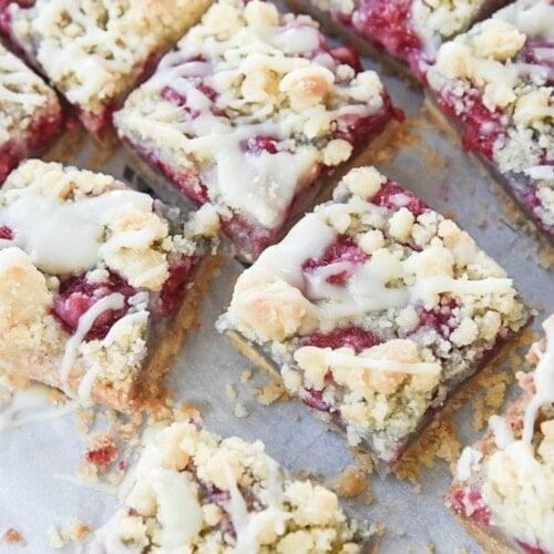 Raspberry White Chocolate Bars