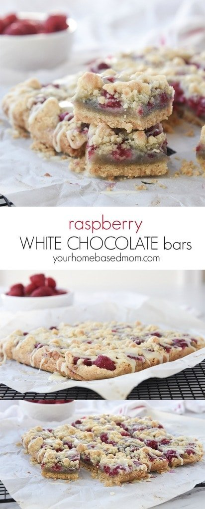 Raspberry White Chocolate Bars combine two of my favorite flavors.  It is pretty much a combination made in heaven.