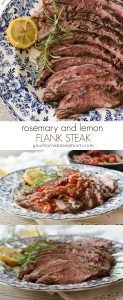 Rosemary and Lemon Flank Steak from yourhomebasedmom.com