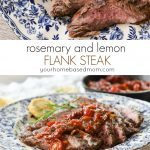 Rosemary and Lemon Flank Steak from yourhomebasedmom.com