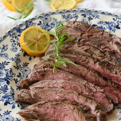 Rosemary Lemon Flank Steak