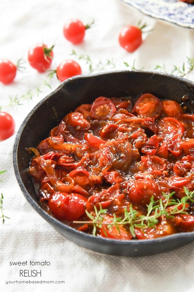 Sweet Tomato Relish Recipe |Your Homebased Mom