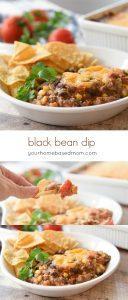 black bean dip - yourhomebasedmom.com