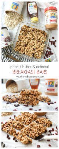 Peanut Butter & Oatmeal Breakfast Bars - C