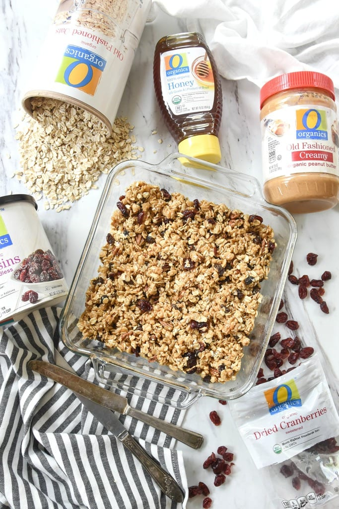 Peanut Butter and Oatmeal Breakfast Bars
