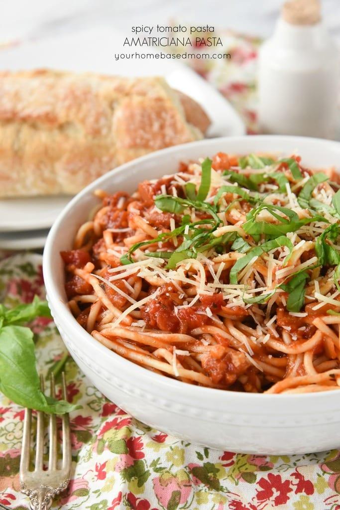 Spicy Tomato Pasta Amatrciana Pasta