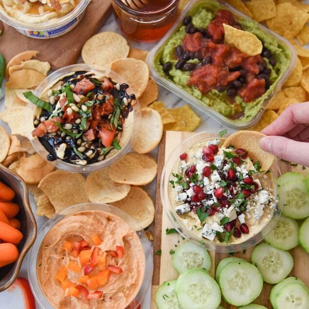 Healthy Snacks Ideas with Hummus