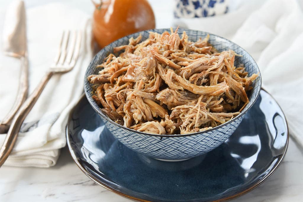 bowl of maple pulled pork