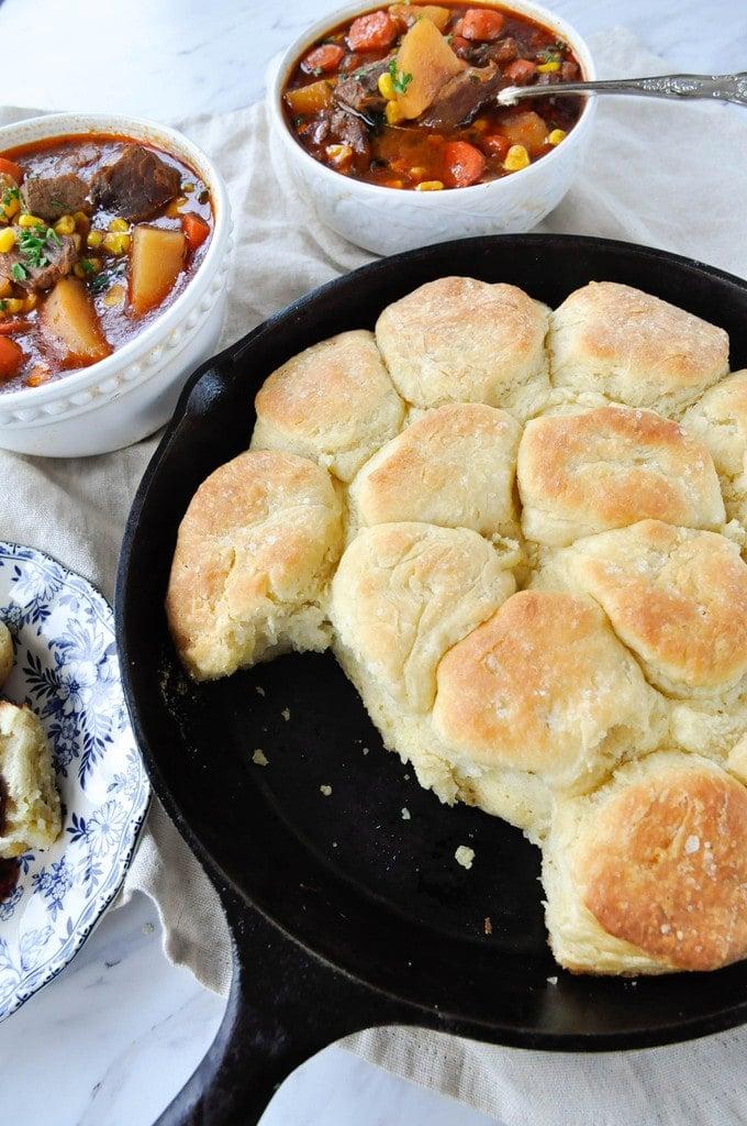 Cast Iron Skillet Biscuits
