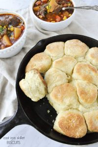 Cast Iron Skillet Angel Biscuits