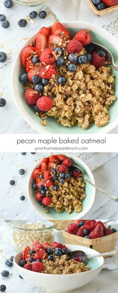 Pecan Maple Baked Oatmeal Recipe
