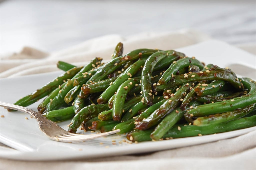 green beans with soy sauce garlic sesame seeds