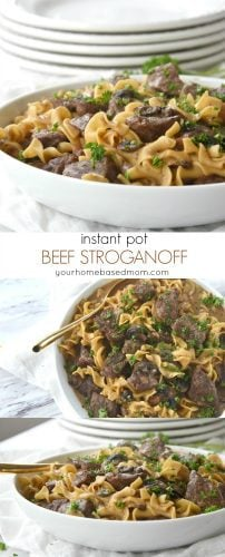 Instant Pot Beef Stroganoff for a quick and easy one pot meal