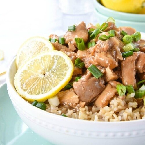 Instant Pot Chinese Lemon Chicken {Crockpot version too!}