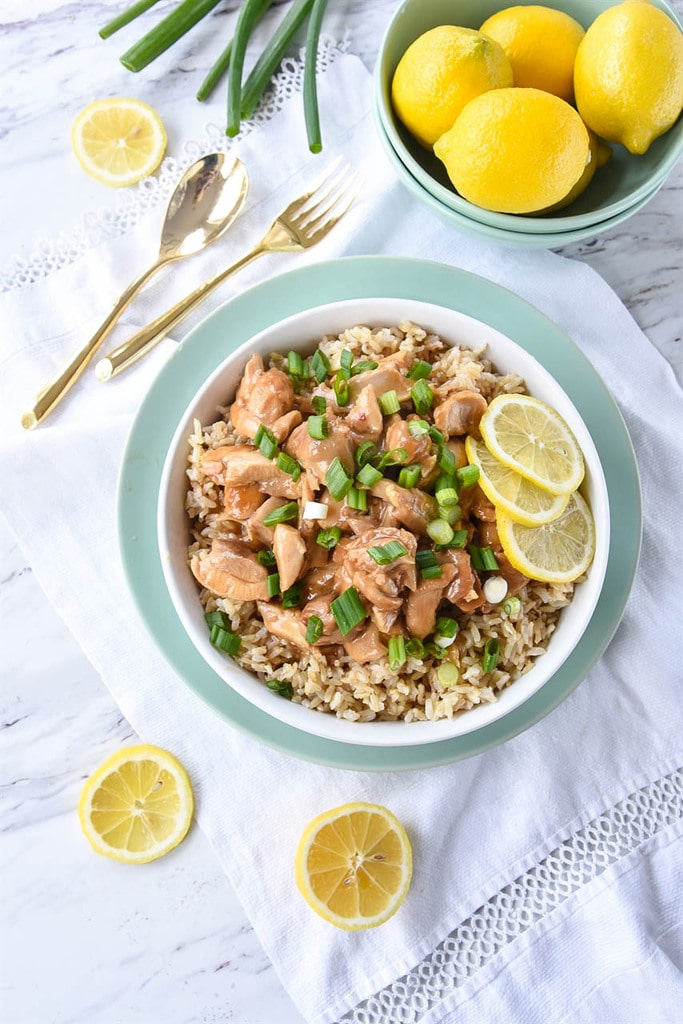 Instant Pot Chinese Lemon Chicken is easy and delicious