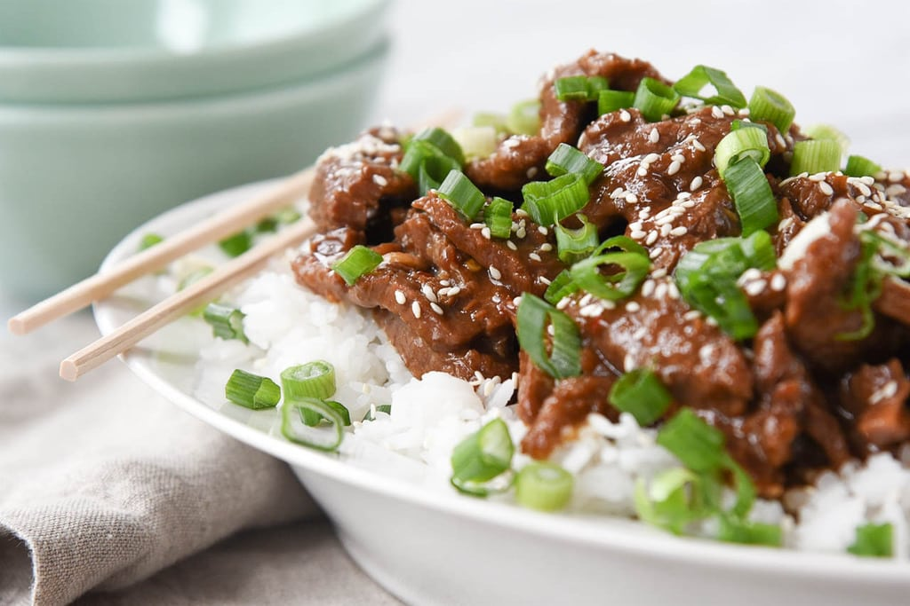 Bowl of Mongolian Beef Instant Pot