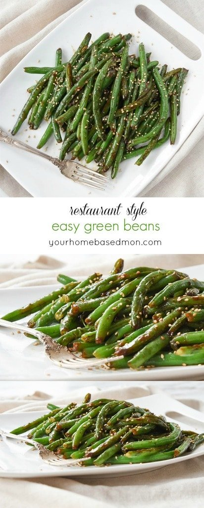 Restaurant Style easy green beans