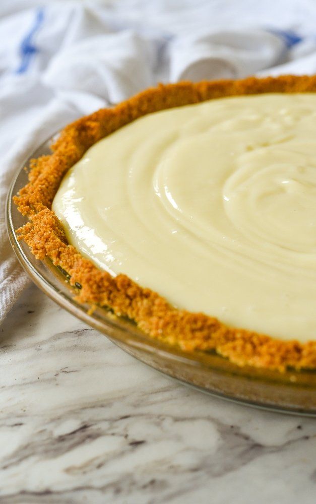 key lime pie ready to bake
