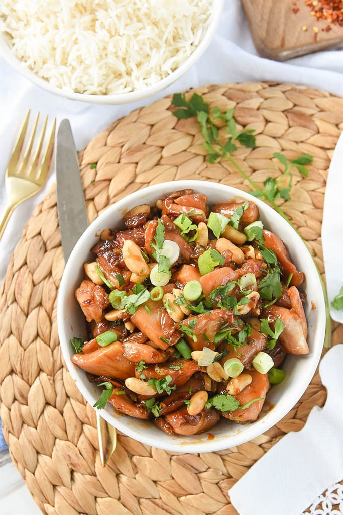 Caramel Chicken with cashews