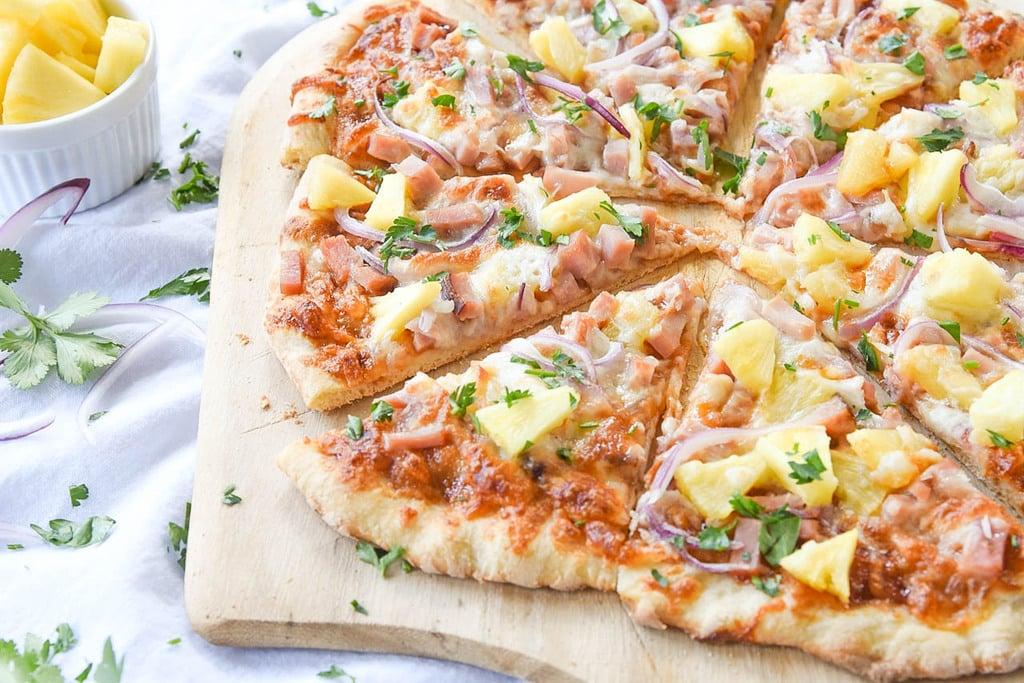 Hawaiian Pizza with leftover ham