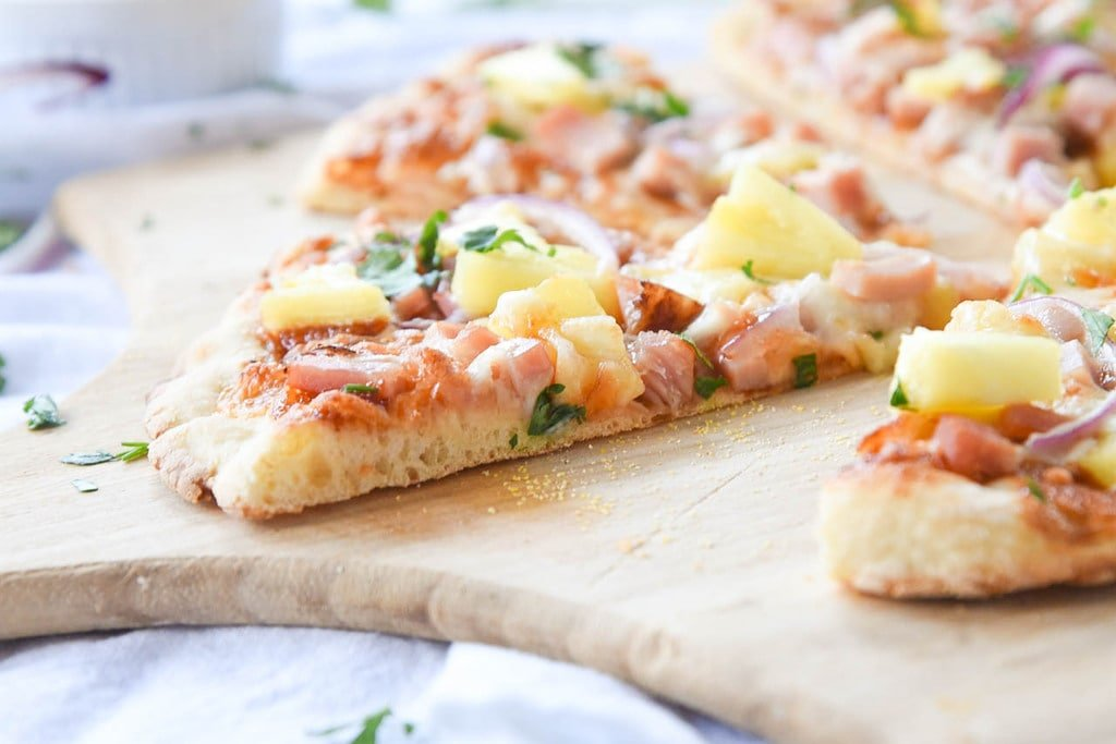 homemade Hawaiian Pizza Slices
