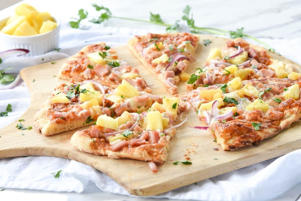 homemade Hawaiian Pizza